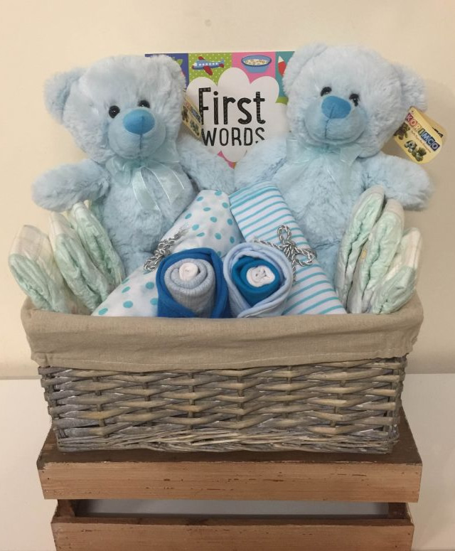 Twin Boys Gift Basket