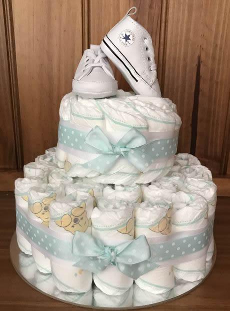 Baby Boy Converse Nappy Cake
