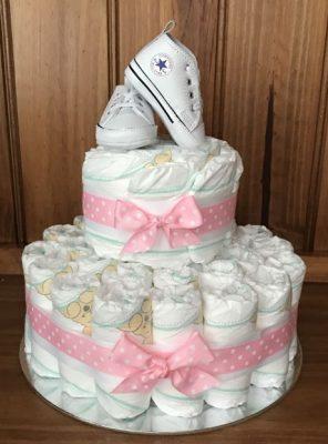 Baby Girl Converse Nappy Cake