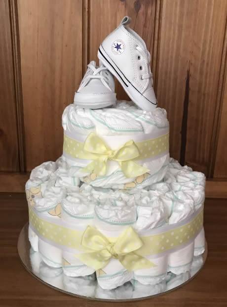 Neutral Converse Nappy Cakes