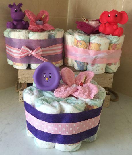 Baby Girl Mini Nappy Cake