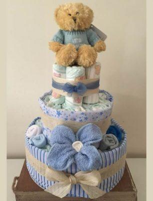 Baby Boy 3 Tier Nappy Cake