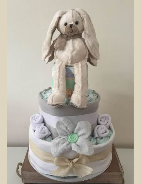 Neutral Baby 3 Tier Nappy Cake