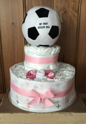 Soccer Ball Baby Nappy Cakes